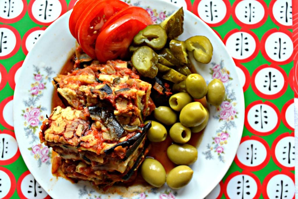 Obiad - zapiekanka z bakłażanów