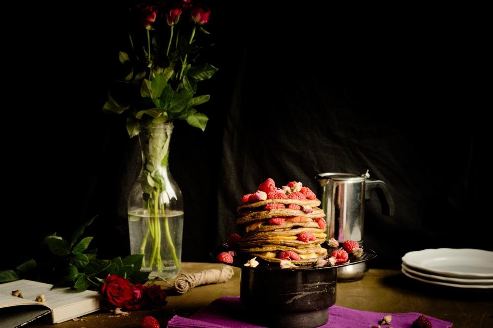 różane pancakes