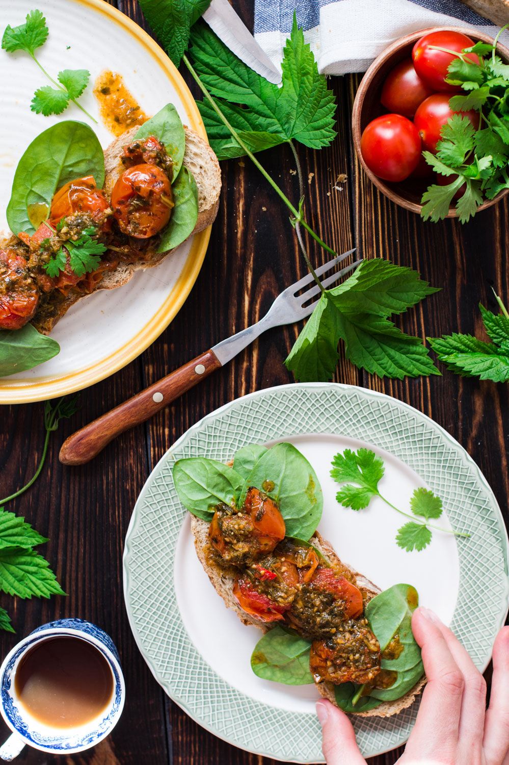 Pieczone pomidorki z szarmulą-