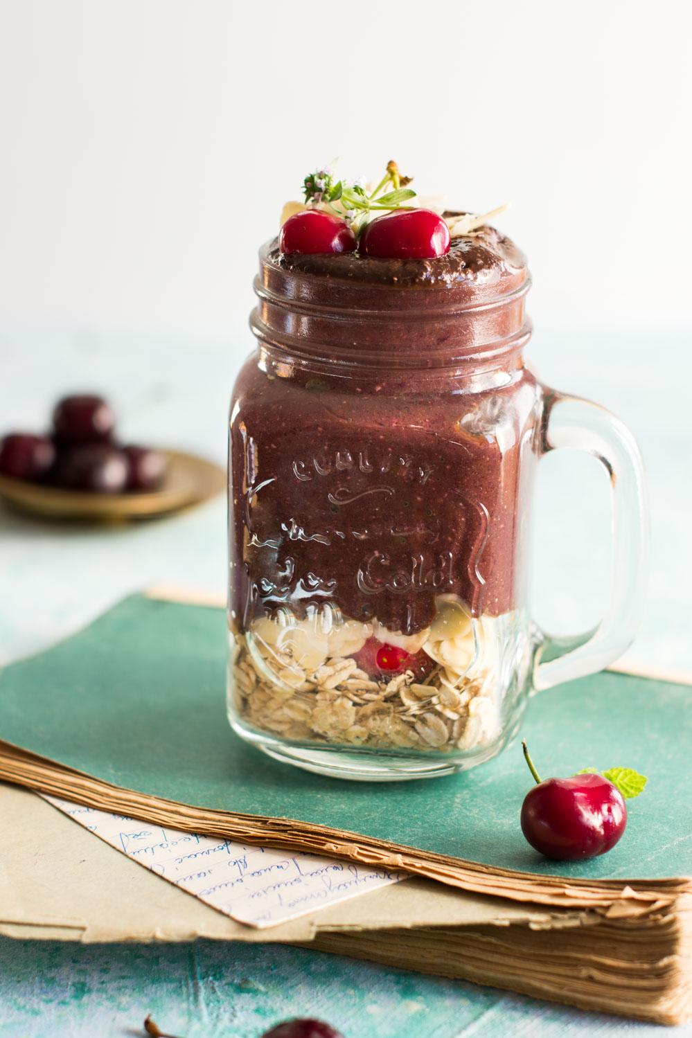 czekoladowo czereśniowe smoothie