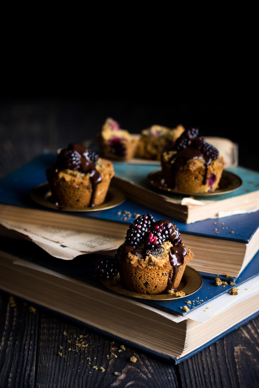 Muffiny z jeżynami
