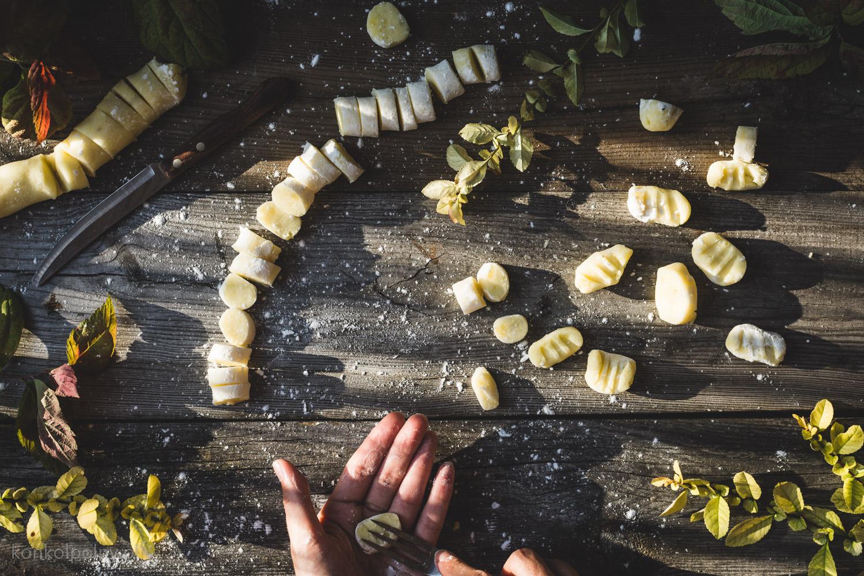 gnocchi z sosem kurkowym
