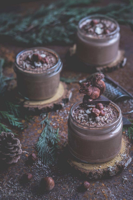 jaglany budyń czekoladowo-orzechowy