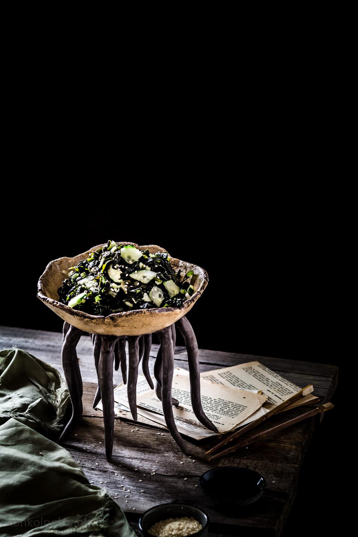 sałatka z glonów wakame