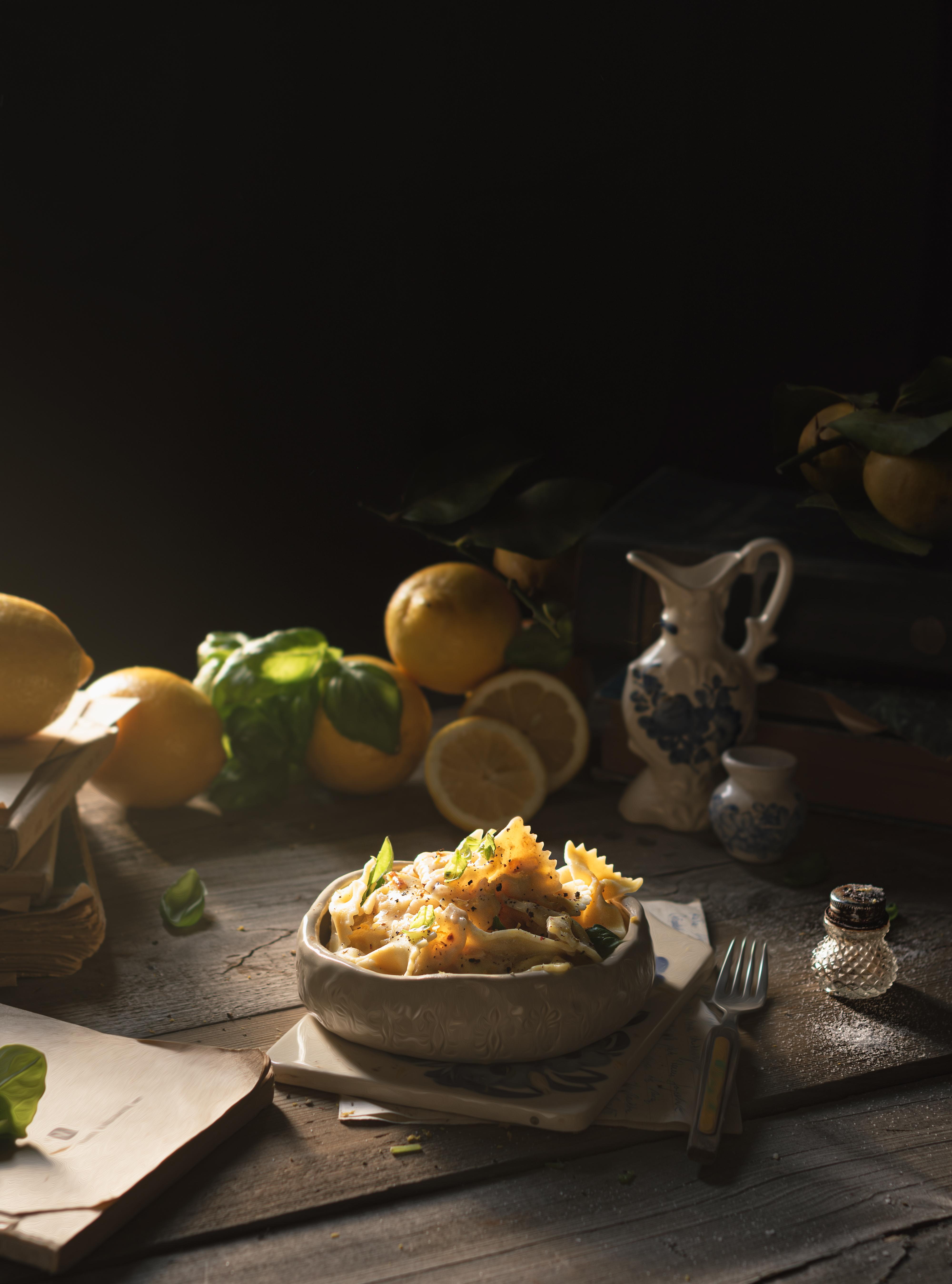 makaron z sosem cytrynowym